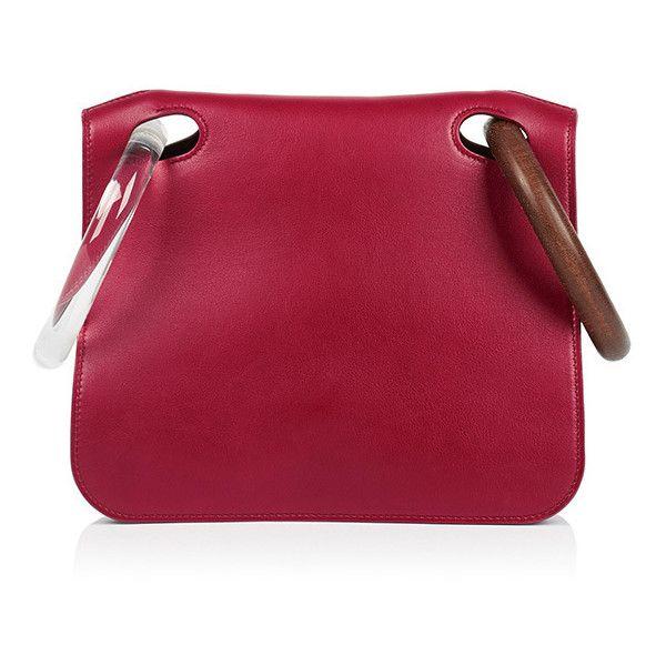 ROKSANDA Neneh Bag ($1,970) ❤ liked on Polyvore featuring bags, handbags, red, wooden handle handbags, red handbags, wood handbag, wood handle bag and wooden purse