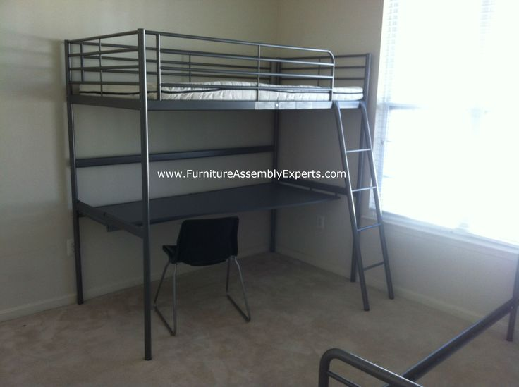 Ikea loft bed with desk assembled in washington dc by furniture assembly experts llc call Couch bunk bed ikea