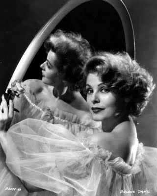 Arlene Dahl (1928 - living) - Photo via Starlet Showcase. She is the mother of Lorenzo Lamas.