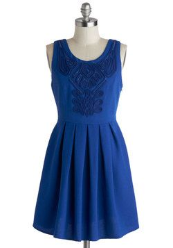 Confident in Cobalt Dress, #ModCloth