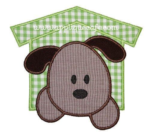 Puppy Patch Applique Design