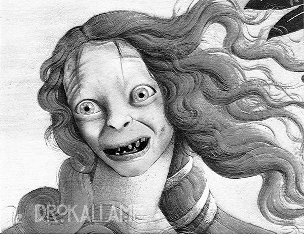 The birth of Gollum by Drokallame.deviantart.com on @DeviantArt