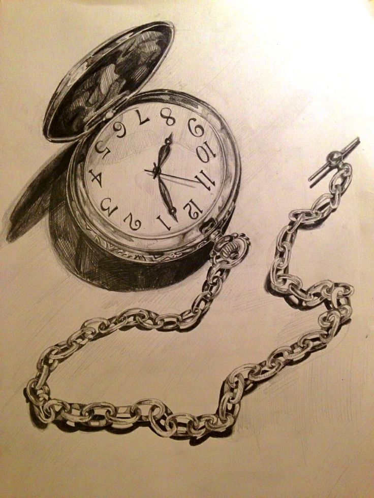 pencil drawing detail on the chain and i the