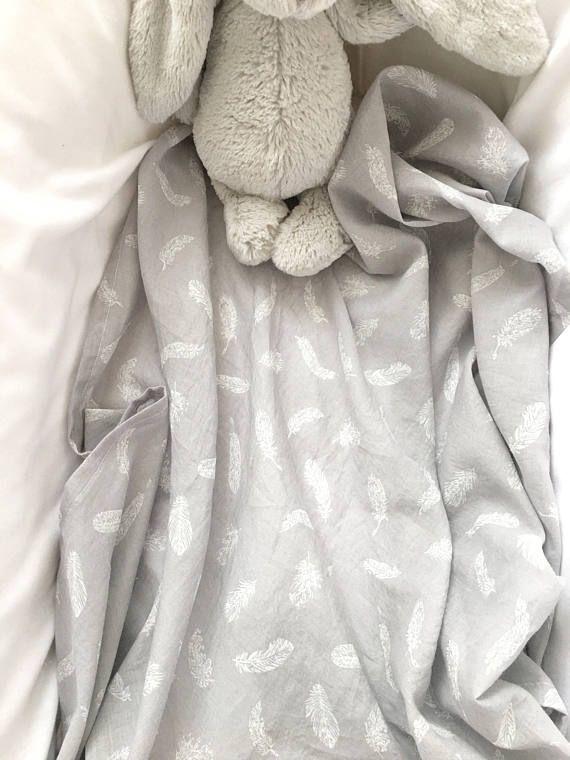 Baby Wrap  Muslin  Tiny Feathers