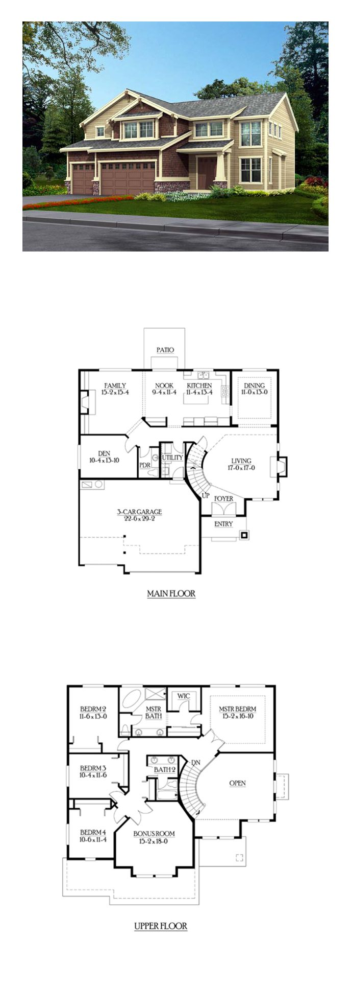 Shingle Style COOL House Plan ID chp 39772
