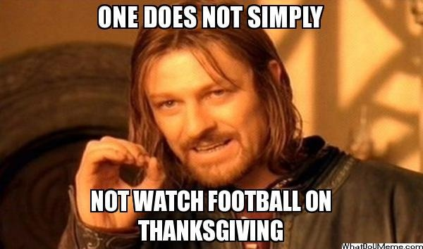 Thanksgiving Football Meme