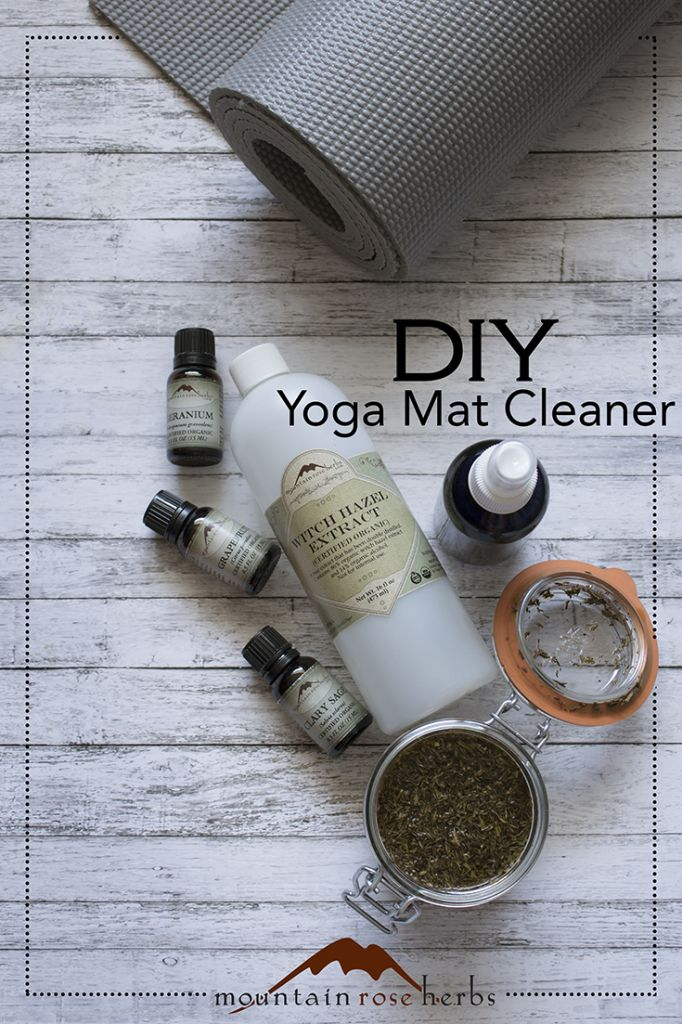 Make your own yoga mat cleaner spray!