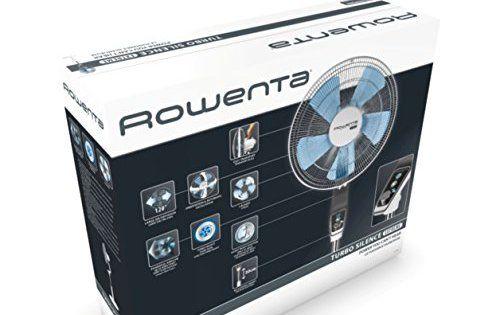 """Rowenta VU5640F0 Turbo Silence Ventilateur stand 16"""": Puissant: grâce aux 5 pales aérodynamiques, ce ventilateur vous procurera une…"""