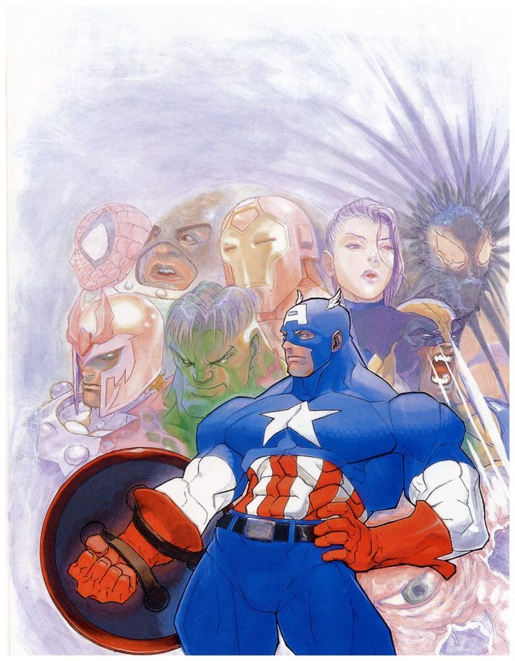 Captain America & friends by Bengus