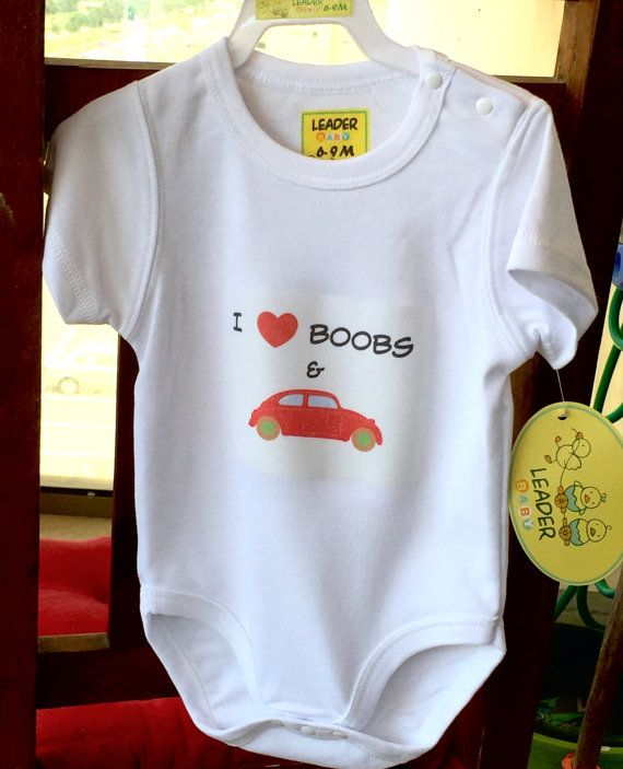Cute Baby Gift That I have made by myself. Just print the image on iron on paper and iron on the onesie. Beautiful, useful and affordable  gift the mommy would love!!! #diybabygift #diyonesie  #babyonesie #iloveboobsandcars #inexpensivebabygift