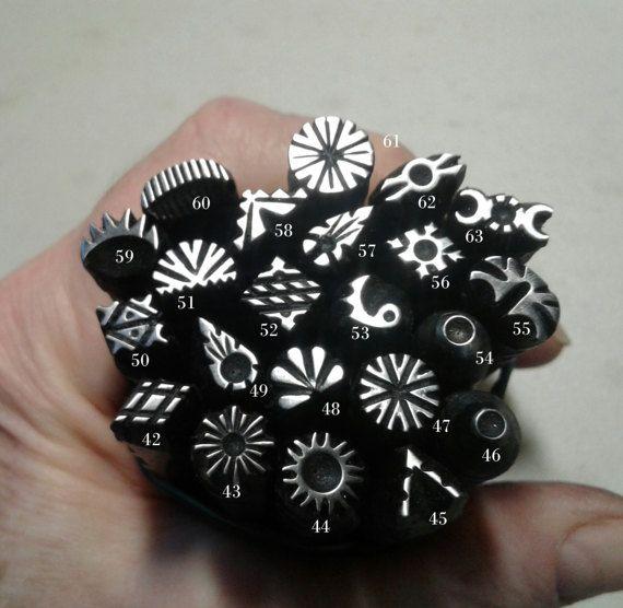 Sellos de Metal hecho a mano sello de joyería herramientas