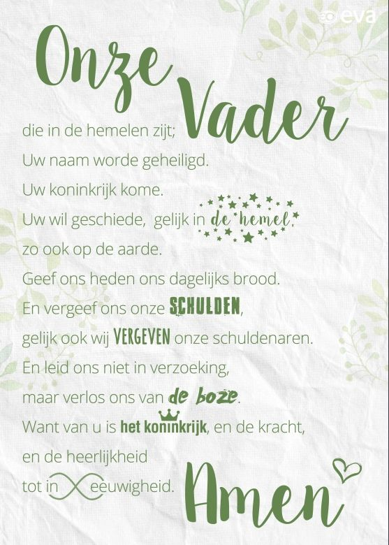 gratis download poster eva. groen traditioneel