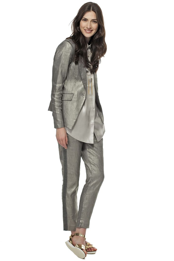 Le métallique de la tête aux pieds! / Metallic from head to toe! #tristanstyle #metallic #ss15