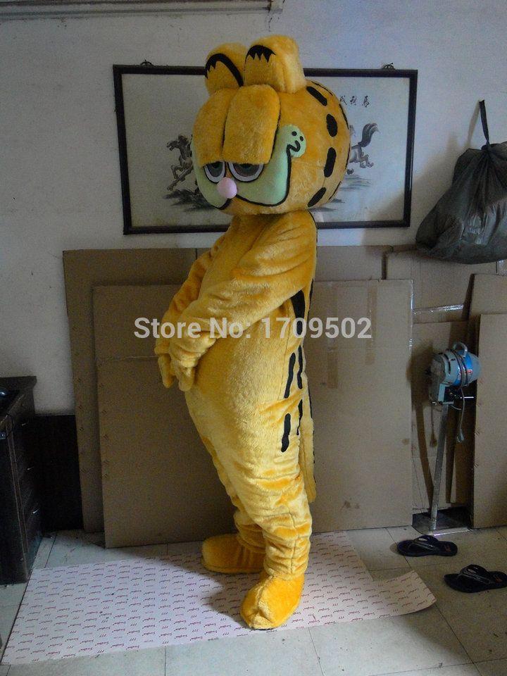 High Quality Garfield cat Adult plush mascot costume
