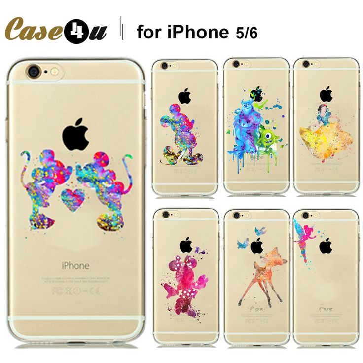 Find More Phone Bags & Cases Information about Cute Funny Tinker bell Design Soft Back Case For iPhone 6 6s 6+ 6s plus Clear Watercolor Art Fairy Tale Cartoon Pattern,High Quality case samsung galaxy tab,China bell game Suppliers, Cheap bell case from Case4u Group on Aliexpress.com