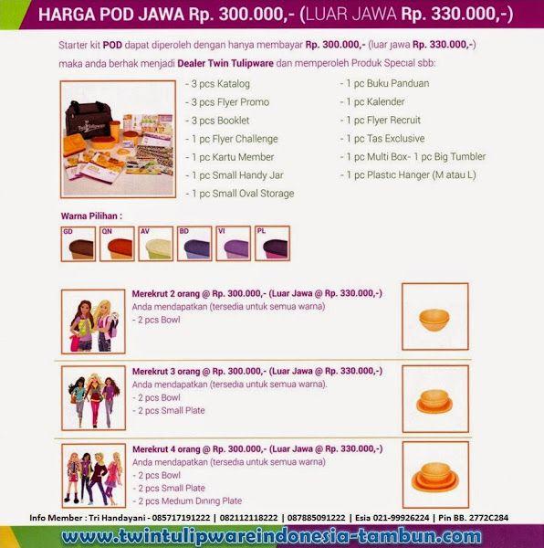 Harga Paket POD #Tulipware Baru 2014