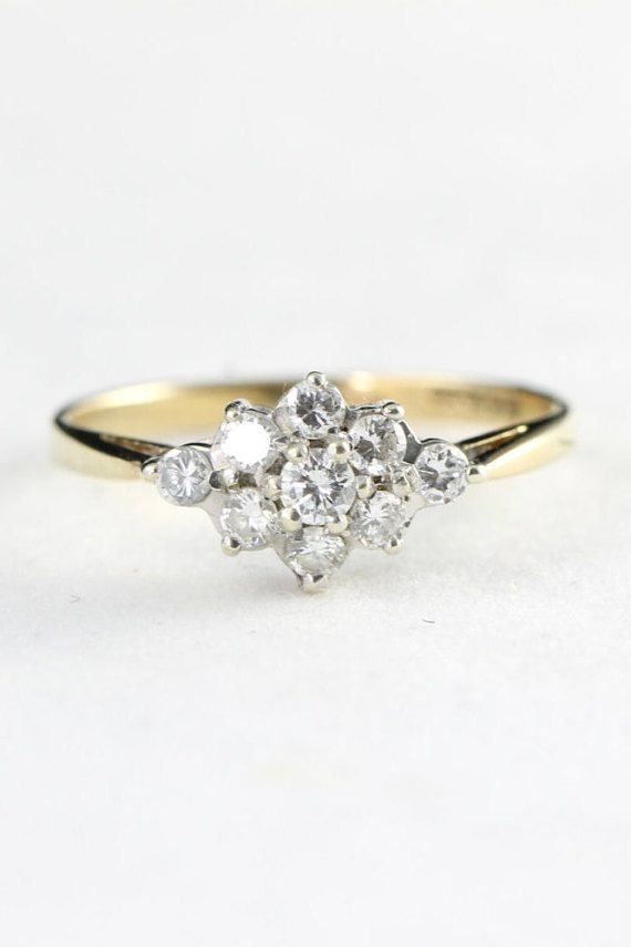 1000 ideas about cluster ring on pinterest rings
