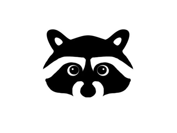 Raccoon face logo | Logos | Pinterest | Raccoons, Fairy ... Raccoon Face Clip Art Black And White