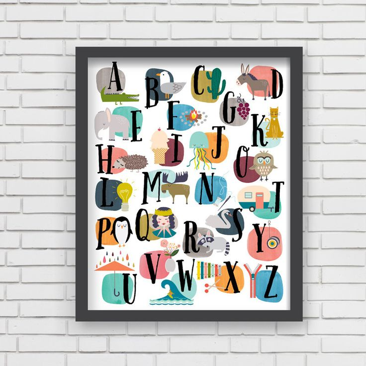With an effortless modern style, Lucy Darling offers a high-quality watercolor Alphabet themed watercolor art print designed to help celebrate the darling moments of a baby's life. • Perfect Nursery W
