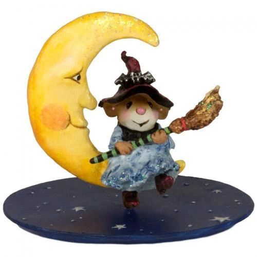 Broom To The Moon Folk Felt Animals Halloween Clipart