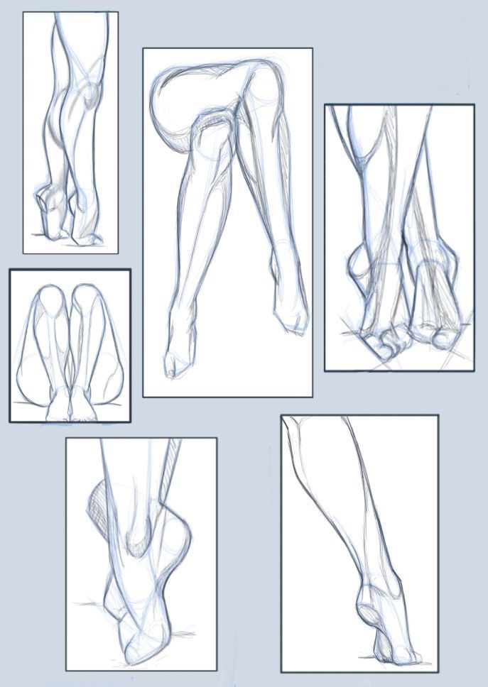 Pose-Studie / Beine und Füße von hel78 auf Devia…