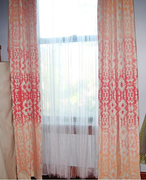 painting drop cloth curtains
