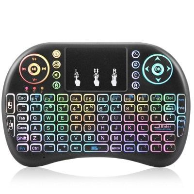 Viboton i8 Mini Backlight Wireless Keyboard Touchpad Mouse Price €8.23 with coupon GBMAR101