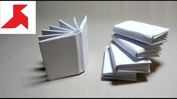 Как сделать маленькую мини оригами КНИЖКУ из бумаги А4 своими руками?