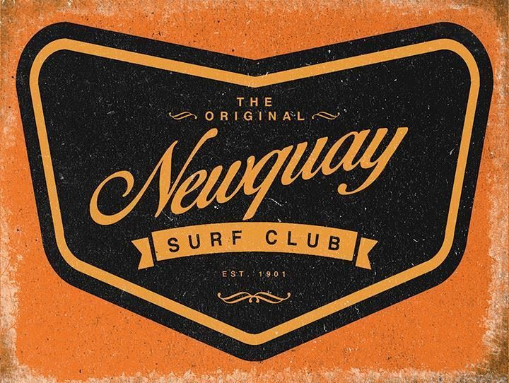15x20cm vintage enamel style Newquay surf club metal advertising sign  | eBay