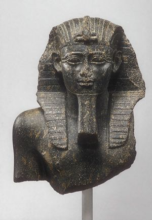 "Psamtik I (also spelled Psammeticus or Psammetichus), was the first of three kings of that name of the Saite, or Twenty-sixth dynasty of Egypt. His prenomen, Wah-Ib-Re, means ""Constant [is the] Heart [of] Re."" Historical references for the Dodecarchy and the rise of Psamtik I in power, establishing the Saitic Dynasty, are recorded in Herodotus Histories, Book II: 151-157."