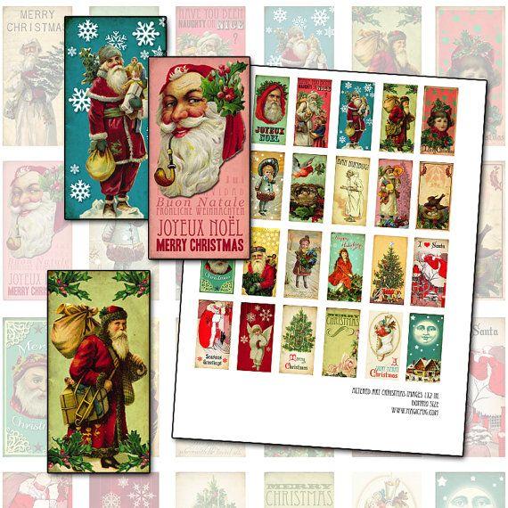 Cette liste est pour une collage numérique feuille de 8,5 x 11 po. avec 24 images différentes art altéré de Noël. Jai utilisé ici images victoriennes, texture, couleurs vives et polices antiques. Il y a même une antique Scrooge avec BAH HUMBUG!, pour les grumps sur votre liste de Noël. Je pense que ce seraient bien comme Etiquettes cadeaux, ainsi que sur les dominos.    Veuillez noter : Cette liste est pour une feuille numérique, ce qui signifie que je vais envoyer cette feuille à votre…