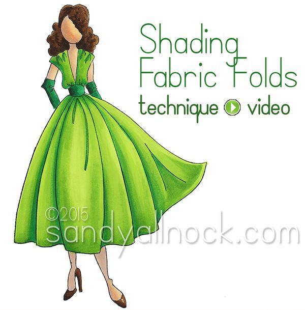 shows you how to add shading to an image | fabric folds