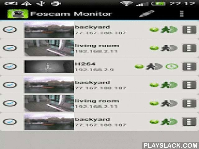 Foscam Monitor DEMO 3rd Party  Android App - playslack.com ,  This the DEMO version of Foscam Monitor appMake your Foscam IP camera accessible from any Android device. Use Foscam Monitor to manage every aspect of your camera: position, video properties, motion detection, etc. Works with both wifi and mobile internet connection.Perfect as baby monitor!You have more than one camera? Use the grid view to see 2 or more cameras at a glance. Foscam Monitor supports up to 16 cameras!You don't know…