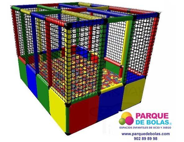 Recinto para un #parque de #bolas. Este recinto con piscina de bolas tiene las siguientes medidas 165x125x125 cm. #ParqueDeBolas #ocio #infantil #niños #juegos http://www.parquedebolas.com