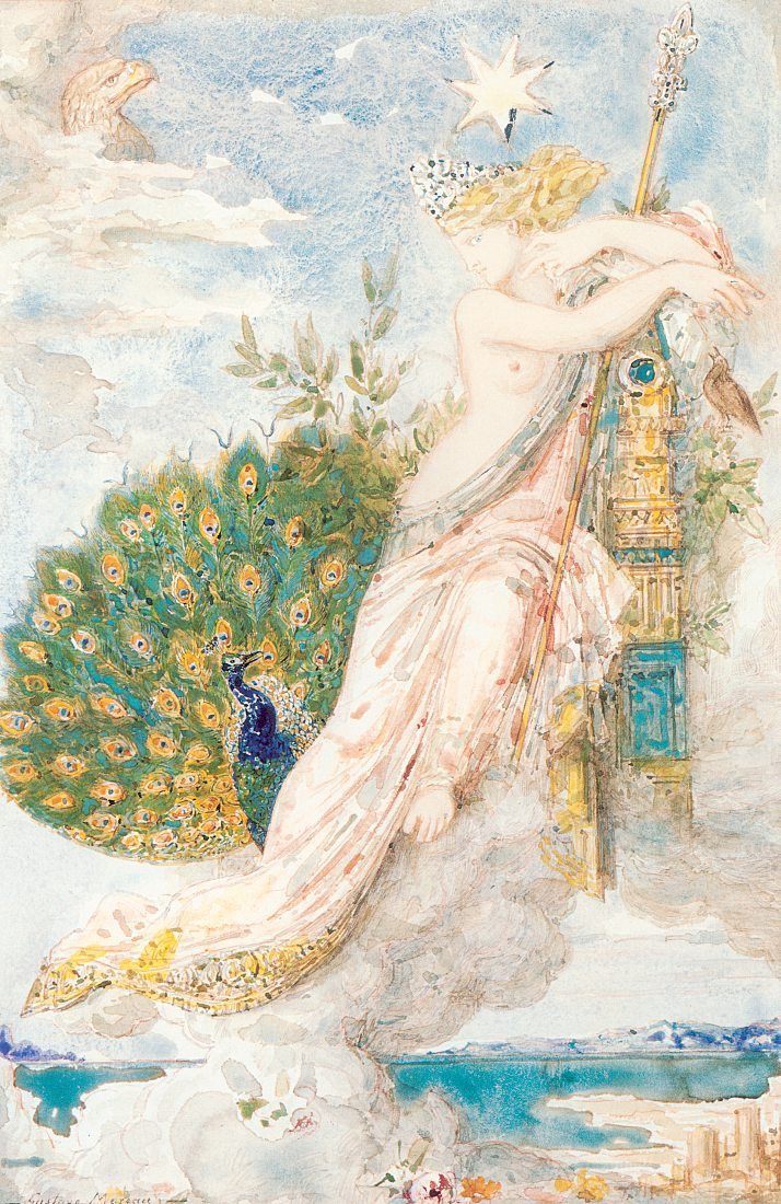 The Peacock Complaining to Juno, Gustave Moreau