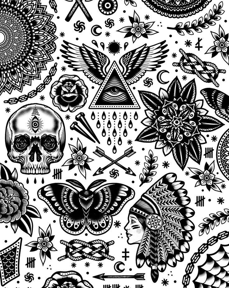 Small Art Tattoo Designs: Old School Tattoo Designs