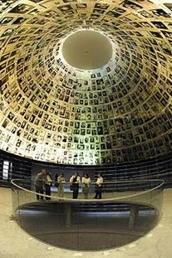 Yad Vashem Holocaust Museum ~ Jerusalem, Israel  Its staggering , the hall of names... all the faces are victims