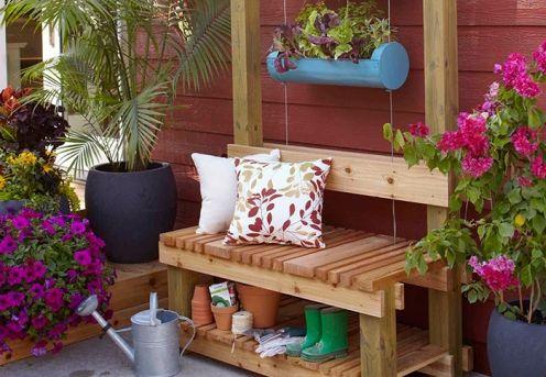 2 în 1: bancă și suport pentru plante - instrucțiuni de construire