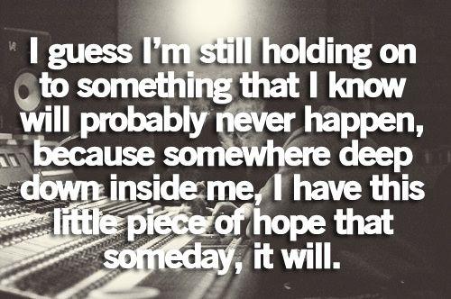 I am still holding on