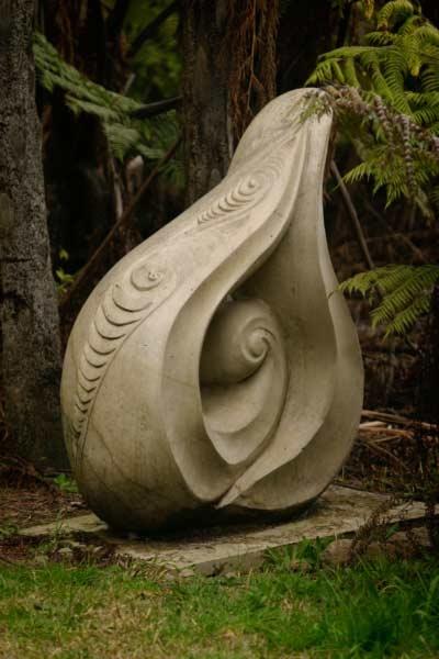 Teardrop of the Maori People by Paora Matenga. Puna Quarry Park, New Zealand