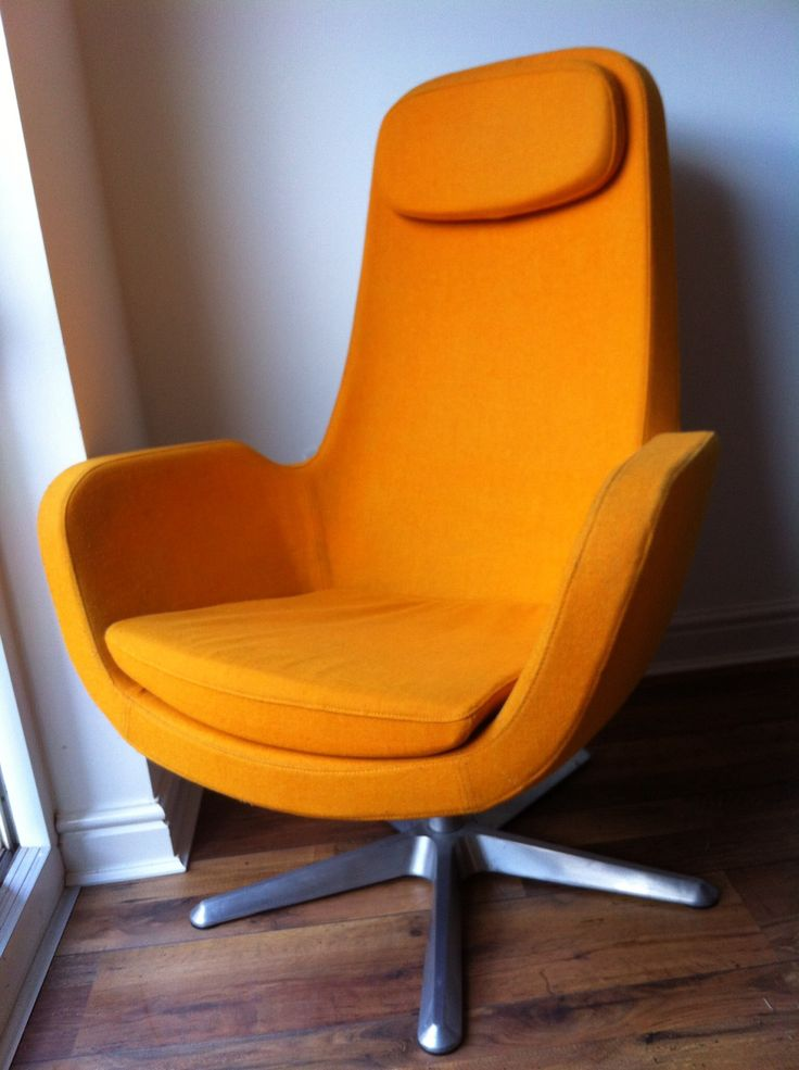 Funky retro egg shaped chair