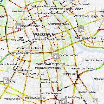 Mapa korków online