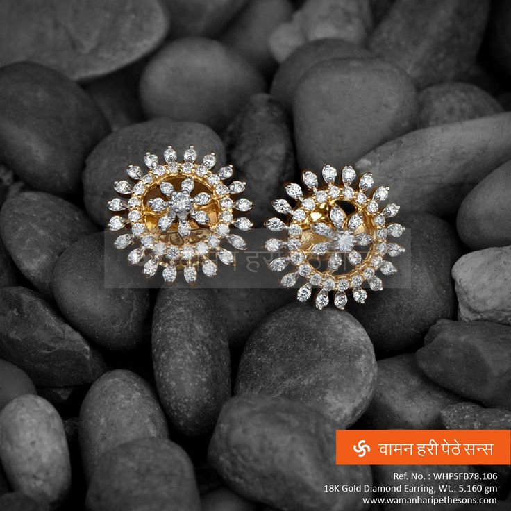 This alluring #gold #diamond #earrings from our #jewellery collection will surely add charm to your persona.
