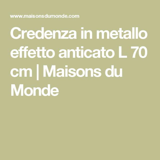 Credenza in metallo effetto anticato L 70 cm | Maisons du Monde