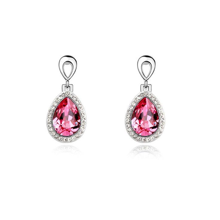 Austrian Crystal Drop Earrings - Guardian of Love