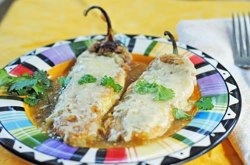 Authentic Chile Rellenos  (egg battered and fried like they should be!)