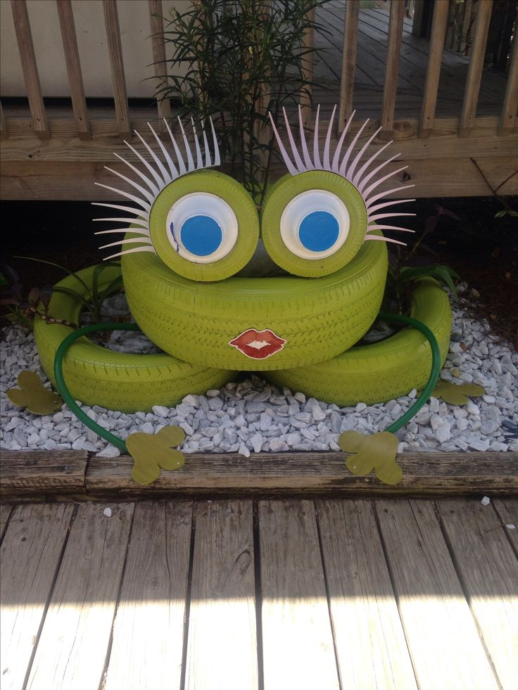 25 best tire frog ideas on pinterest tire planters for Tire decoration ideas