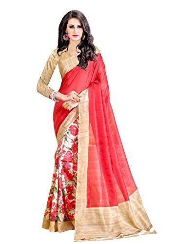 Trendz Women's Cotton Silk Saree (TZ_Sanskruti_Red) - http://www.onlinesaleindia.in/product/trendz-womens-cotton-silk-saree-tz_sanskruti_red/
