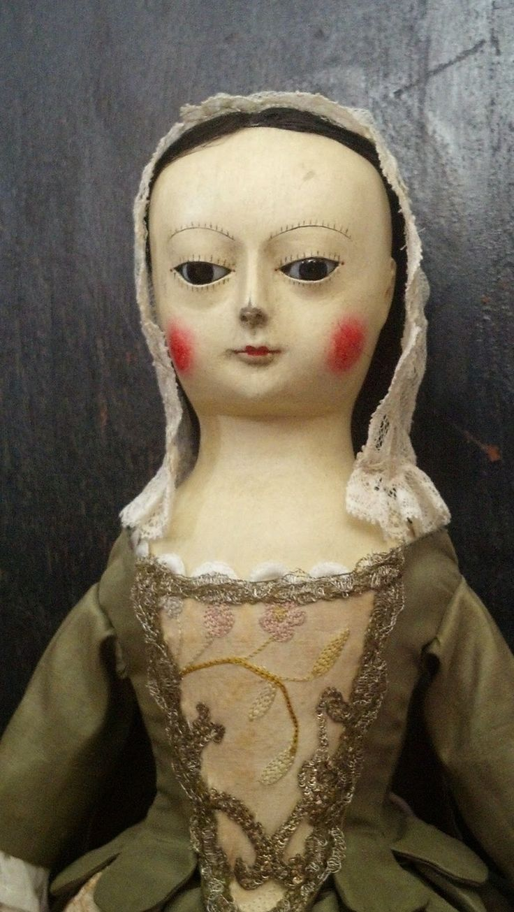 """Reproduction English Wooden Queen Anne Dolls : """" BEATRIX """"  Queen Anne Wooden Doll Reproduction....."""