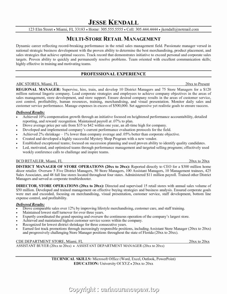 Grocery store manager resume awesome best retail store